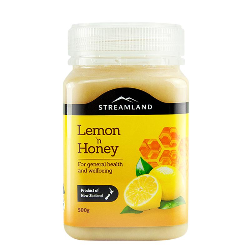 Streamland/新溪岛新西兰进口柠檬蜂蜜水果蜜500g天然农家自产