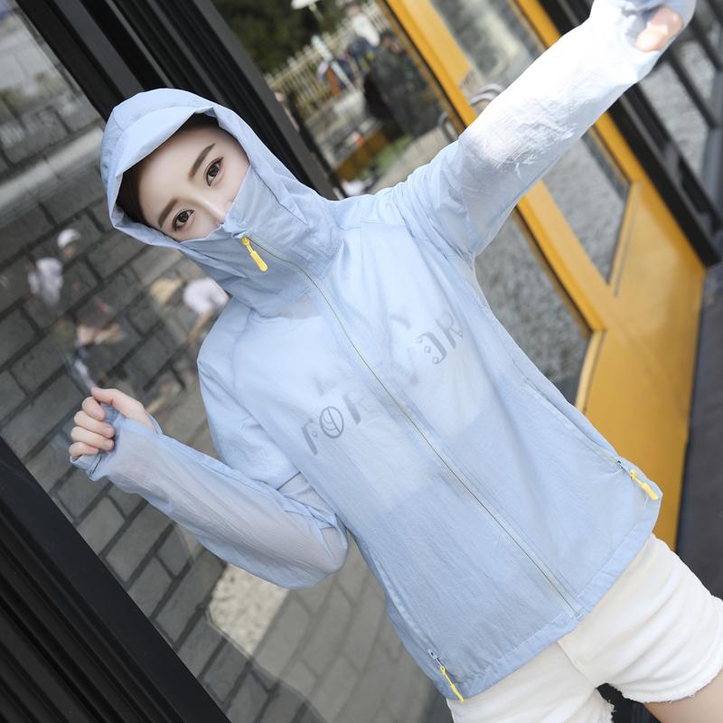 2018新款防晒衣女夏季韩版学生宽松 bf 短款薄外套大码防晒服衫潮