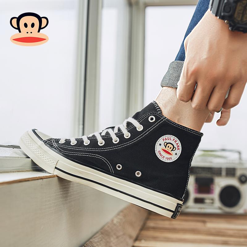 大嘴猴高帮帆布鞋男潮百搭网红秋冬季2019新款韩版休闲板鞋运动鞋