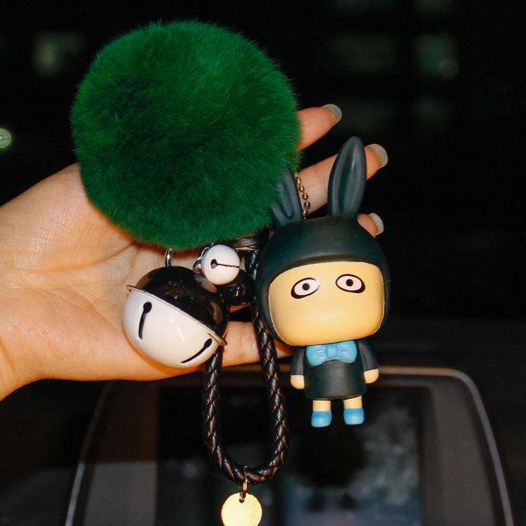 微信兔子礼物创意表情A仔钥匙扣公仔表情女生顶奢卡通包彼爱图片
