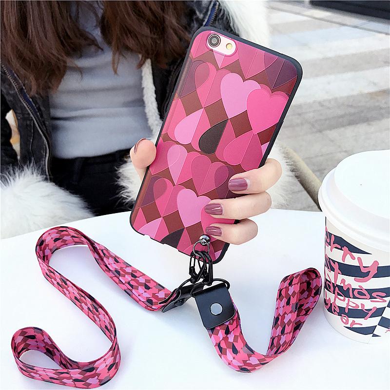 日韩风少女款爱心vivo X9手机壳软胶保护套X9S plus送带挂绳硅胶套X9plus手机套X9S手机壳全包边创意个性潮流