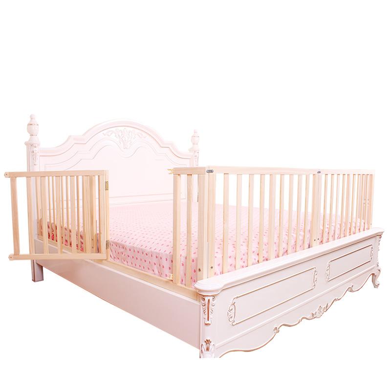 婴儿实木床围栏 床护栏儿童1.8米2米婴儿防护栏1.5米大床挡板防摔