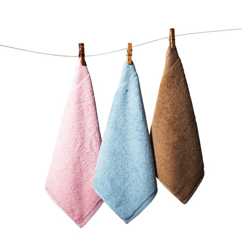 舒舒小毛巾纯棉四方擦脸巾儿童毛巾成人吸水全棉厚方巾吸汗巾3条