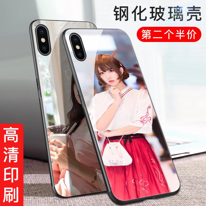苹果x手机壳定制照片diy苹果7plus来图定制iPhone8x定做套6s八钢化玻璃七iPhoneX自定义7私人订做女款6作六8p