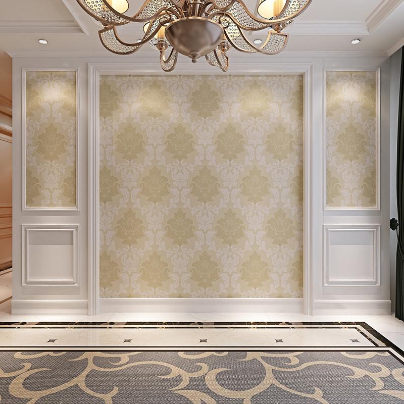 华胜实木背景墙 客厅电视墙壁纸边框线条欧式美式护墙板造型框架