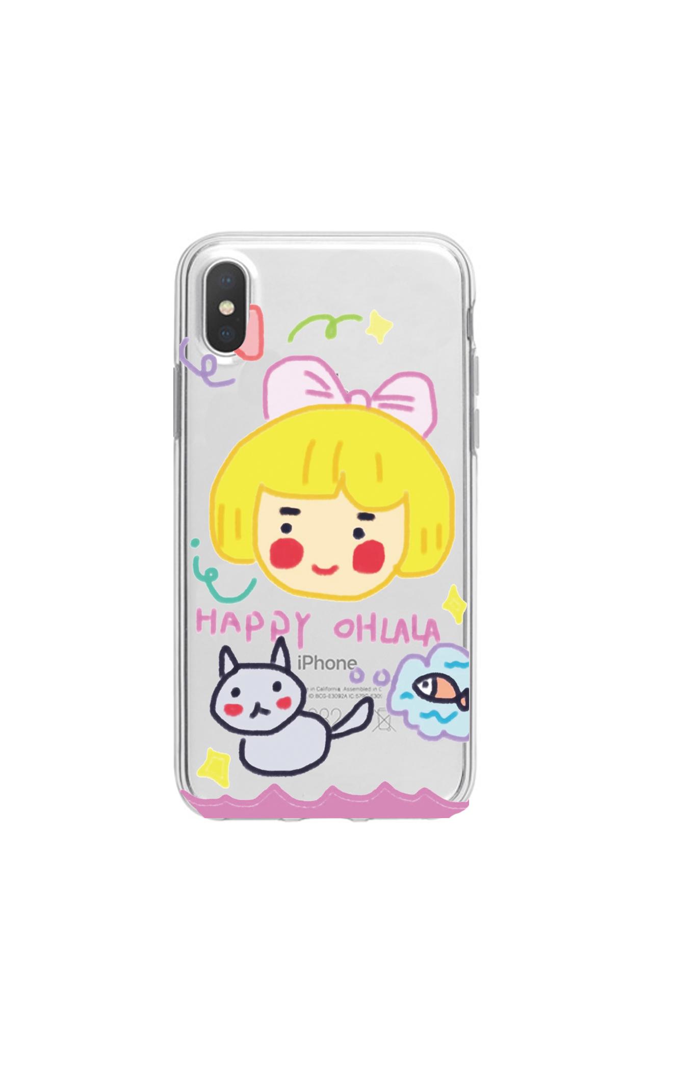 卡通彩虹狗任意型号小米8手机壳cc9红米note7pro/8se6套mix3/2s软