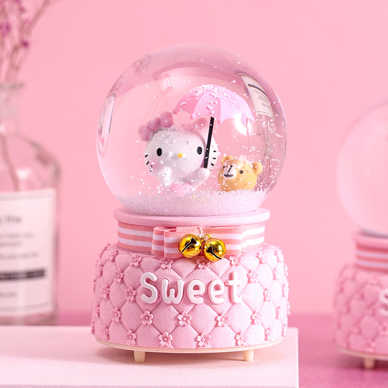 送女孩雪花冰雪奇缘水晶球艾莎爱莎公主音乐盒八音盒儿童生日礼物