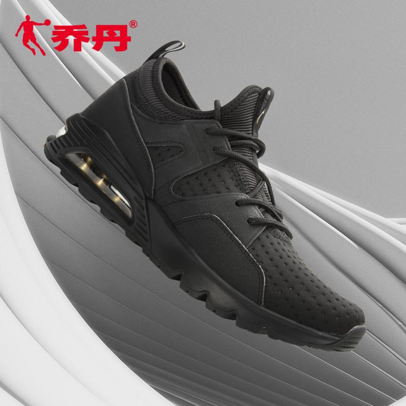 乔丹男鞋跑步鞋男气垫减震鞋子2018夏季新款网面透气运动鞋男潮