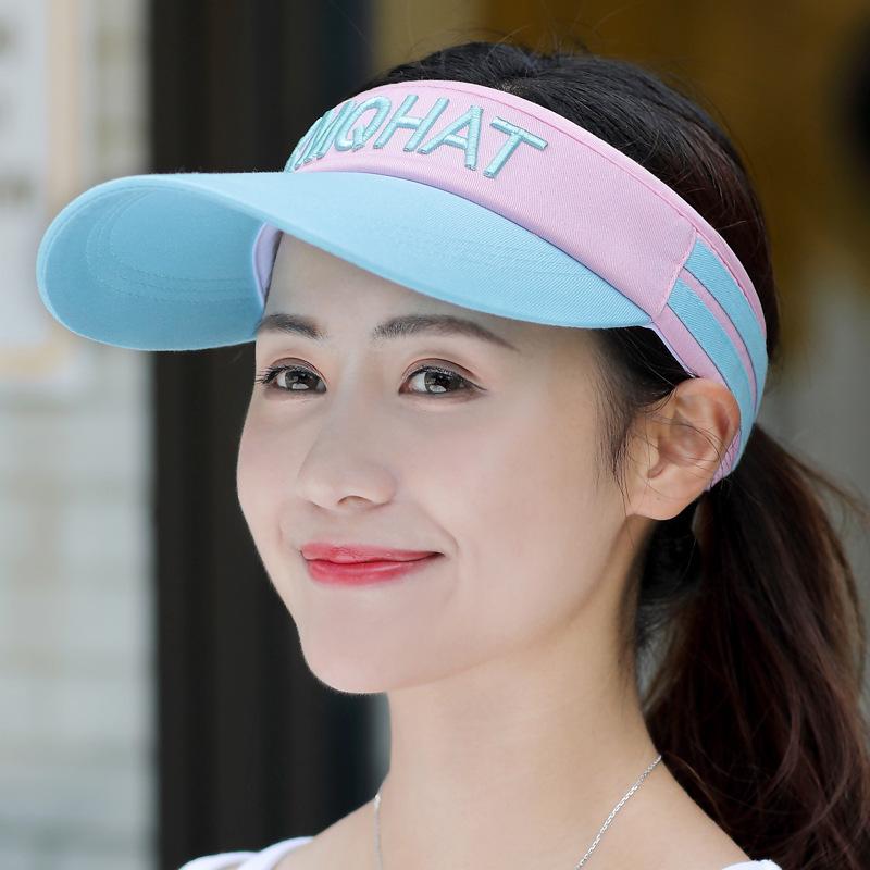 空顶棒球帽子女韩版潮人夏季防晒遮阳太阳帽男户外跑步鸭舌帽