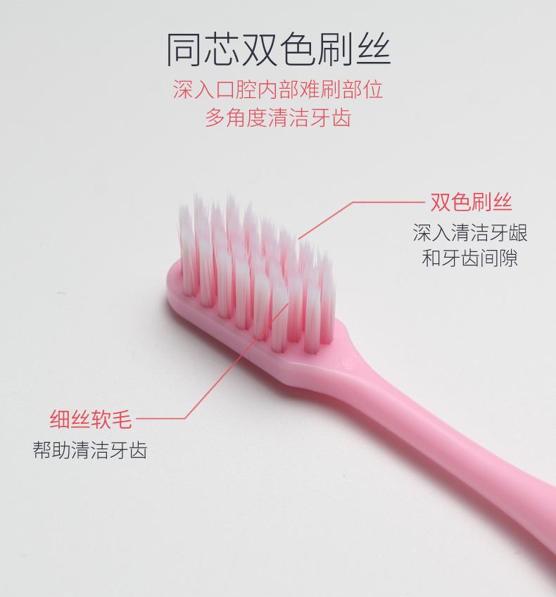 牙刷软毛成人款超细软10支家用竹炭纳米牙刷儿童小头男女士家庭装