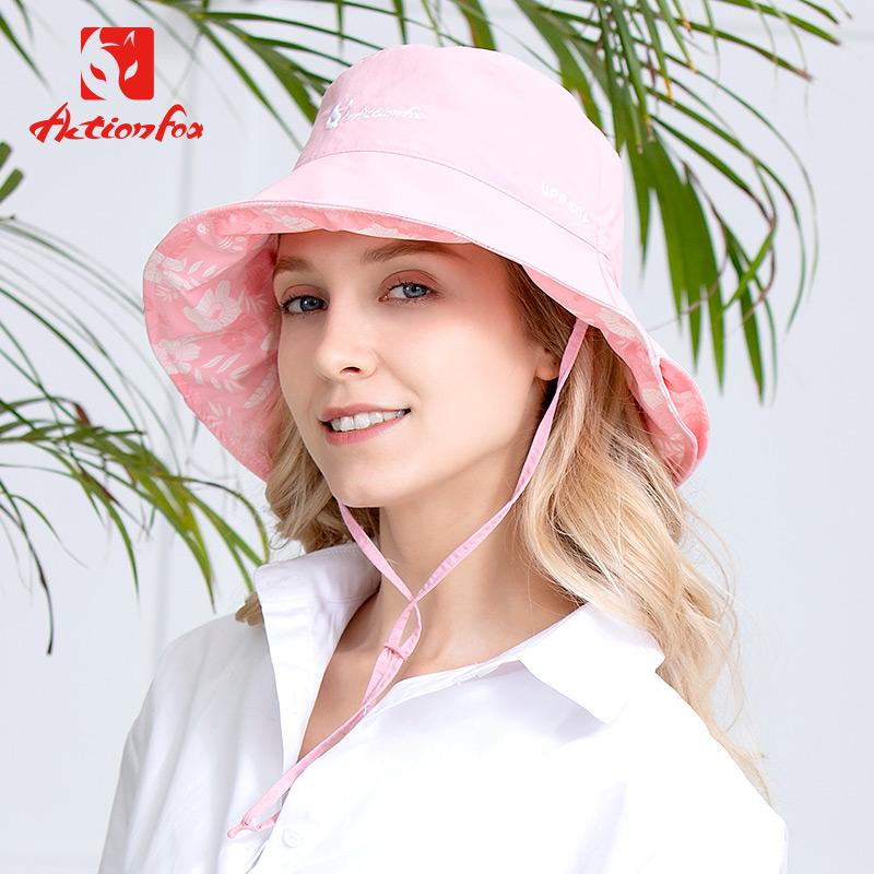快乐狐狸遮阳帽女式防晒夏季太阳帽时尚折叠防紫外线户外休闲盆帽
