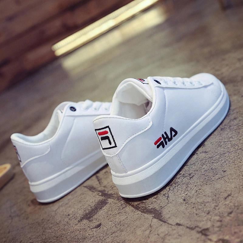 2小白鞋女新款百搭学生白鞋初中生运动鞋球鞋平底休闲皮面板鞋