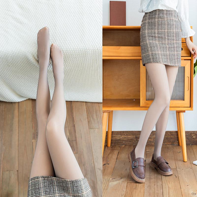 浪莎丝袜女春秋款光腿神器假透肉裸感肉色空姐灰一体打底裤真透肤
