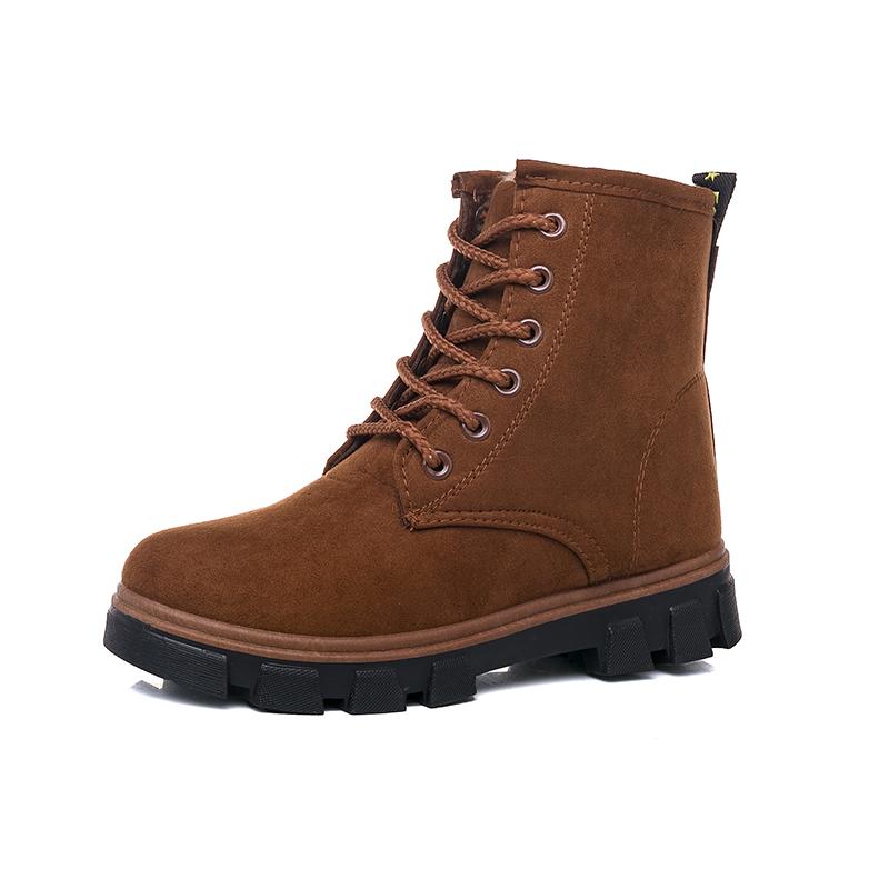 5马丁短靴短筒平底棉鞋学生鞋女靴子棉靴2018秋冬季新款雪地靴女