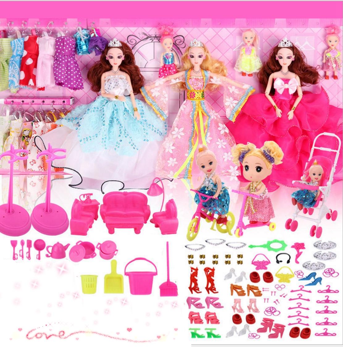 儿童玩具婚纱洋娃娃公主过家家套装大礼盒女孩生日礼物