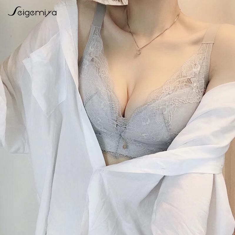 无钢圈薄款文胸大码内衣女胖mm聚拢超薄杯薄海绵收副乳无钢圈胸罩