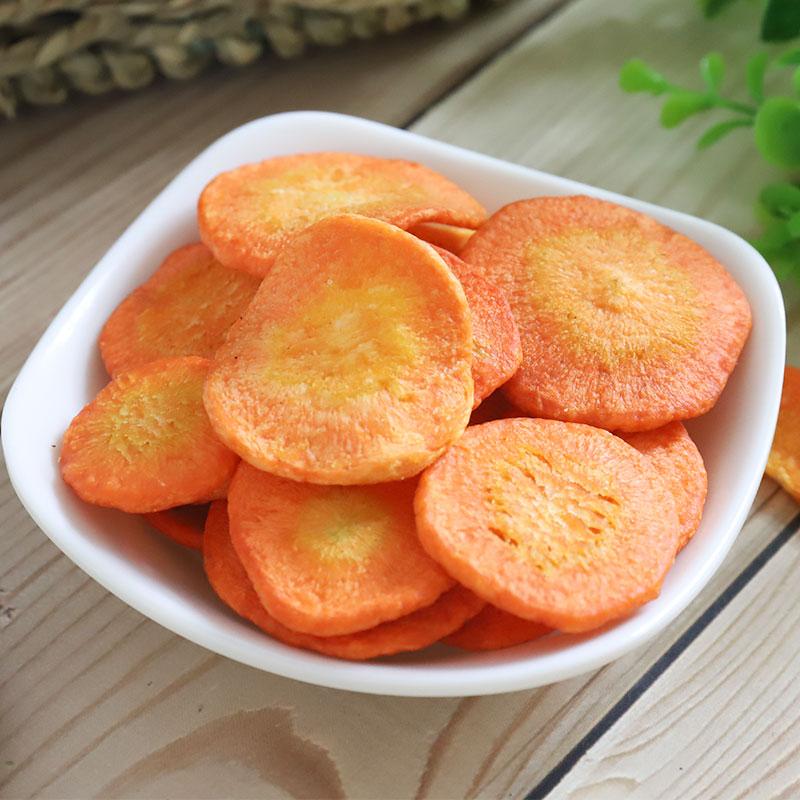 胡萝卜脆片蔬果干蔬菜干脱水即食小孩孕妇零食袋装散装一斤厂家