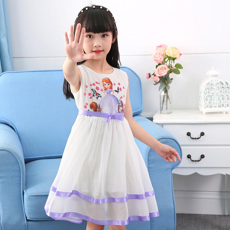 夏装爱莎公主裙女公主蓬蓬纱儿童洋气裙子2020新款夏季女童连衣裙