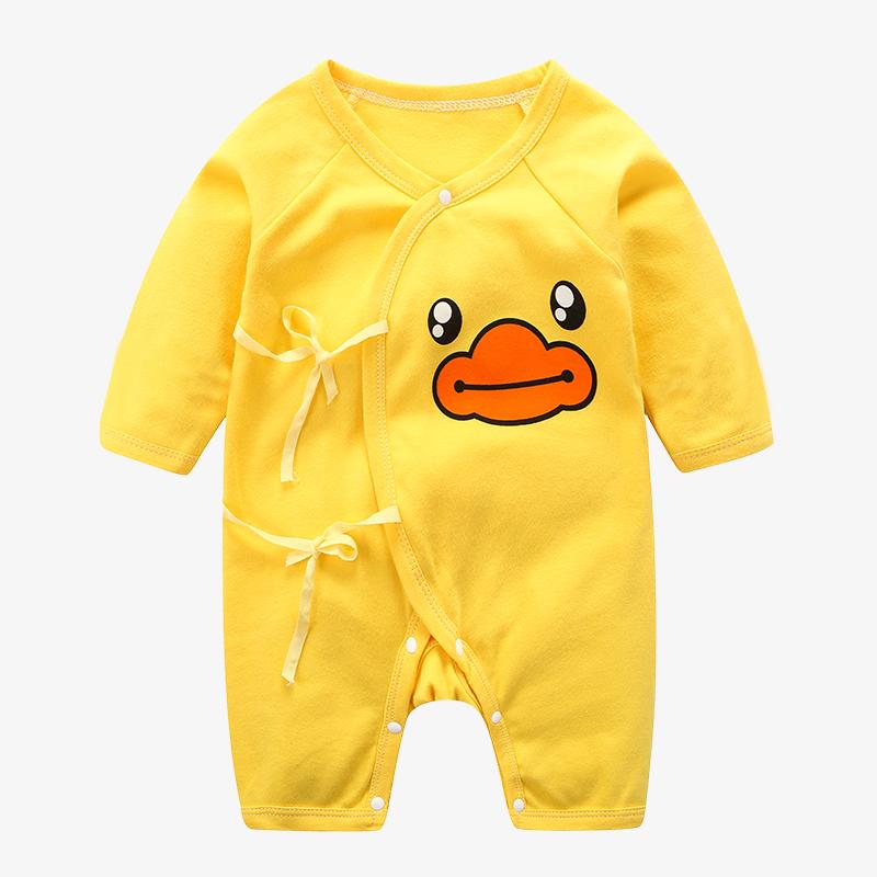 婴儿连体衣春秋冬季纯棉新生儿衣服0-3月和尚服6初生男女宝宝哈衣