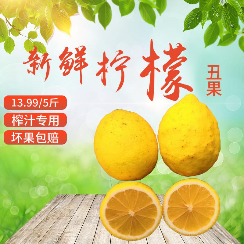 安岳柠檬黄檸檬丑果榨汁柠檬新鲜5斤整箱特价非海南柠檬青柠檬果