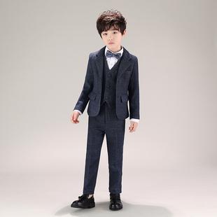 儿童西装套装三件套中大童主持人礼服帅气男孩英伦小绅士西服洋气