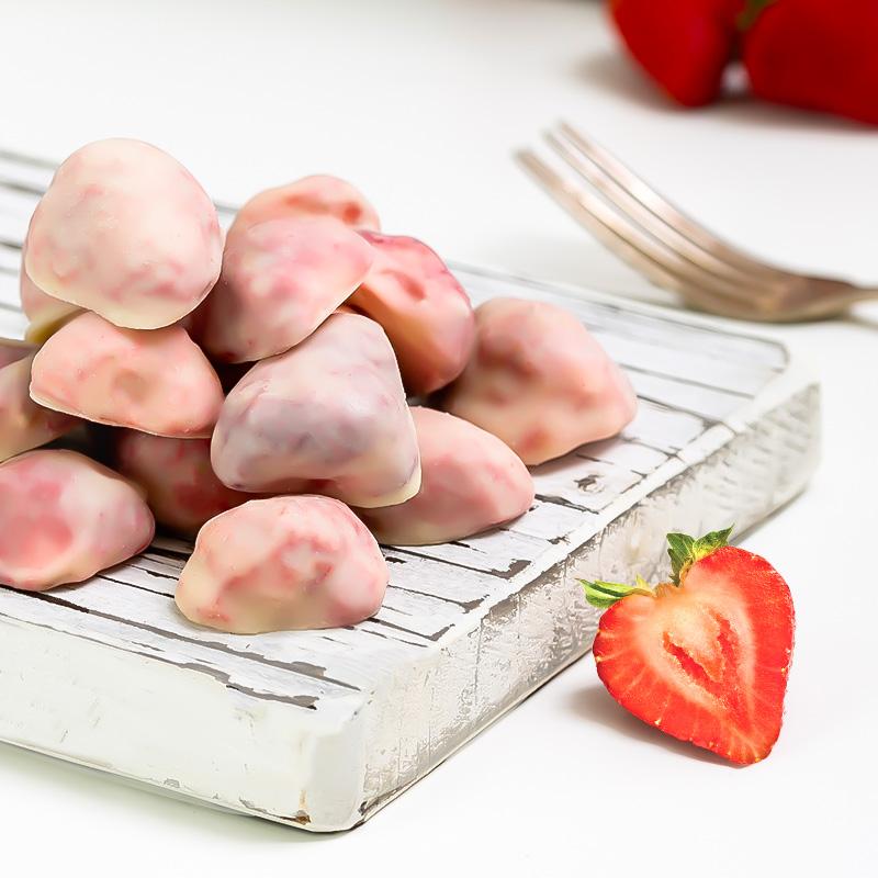 网红推荐冻干草莓果干酸奶巧克力味草莓脆白桃水果健康即食有零食