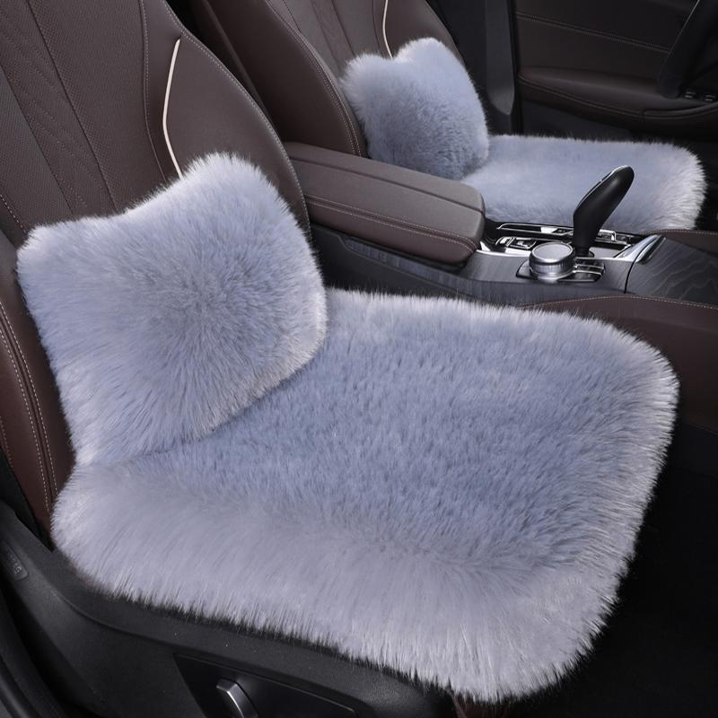 加厚汽车坐垫冬季长毛绒车垫保暖防滑单片三件套冬天羊毛座垫通用