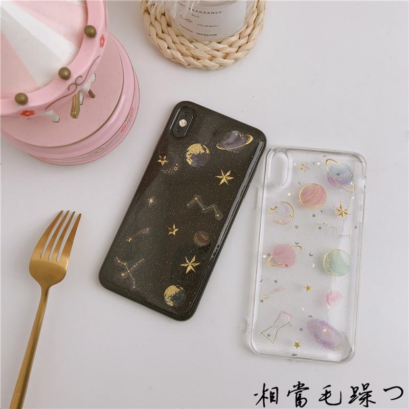 透明滴胶星空iPhone xs max手机壳7P苹果x硅胶仙女8plus/6S情侣XR