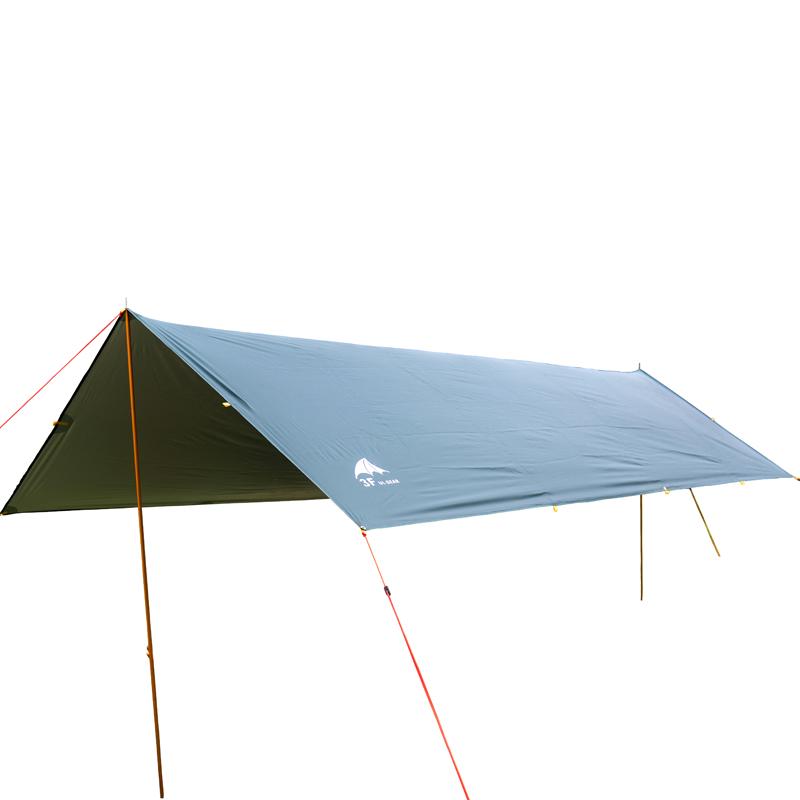 三峰户外轻便携遮阳帐篷钓鱼抗风防晒雨天幕凉棚涂银车大地布铝杆