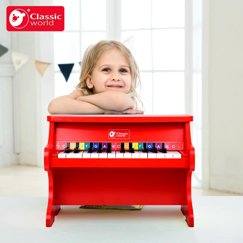 可来赛 儿童钢琴玩具木制初学者非电子琴1-3-6岁宝宝迷你小钢琴