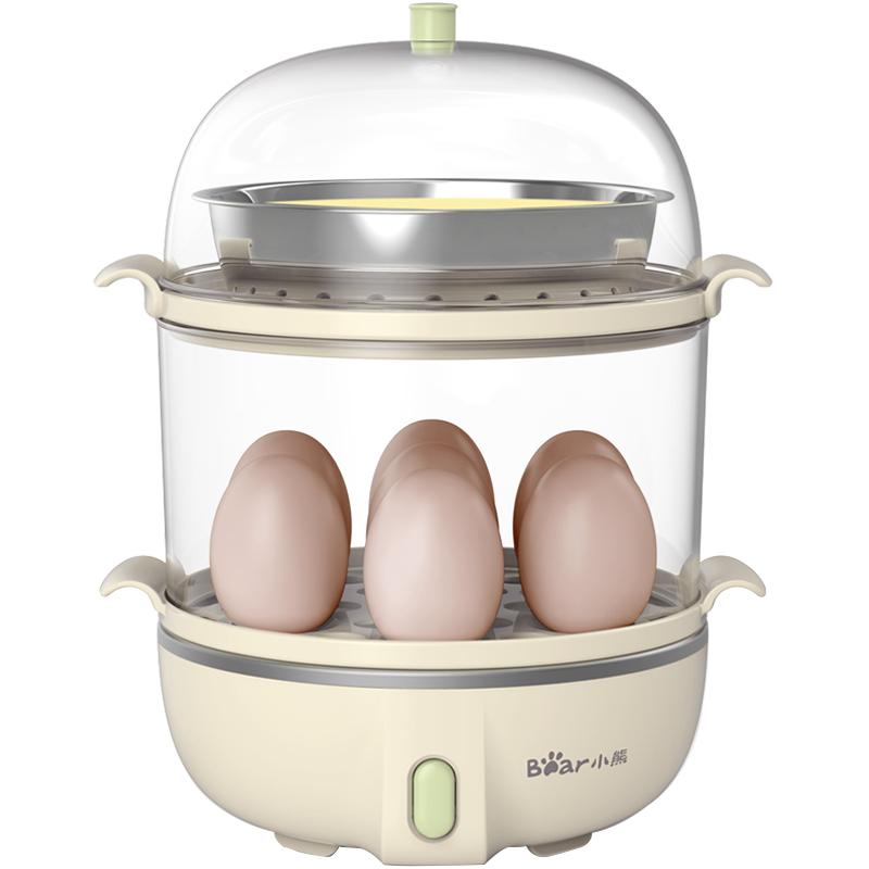 小熊煮蛋蒸蛋器机双层自动断电家用小型多功能1人迷你煮鸡蛋神器