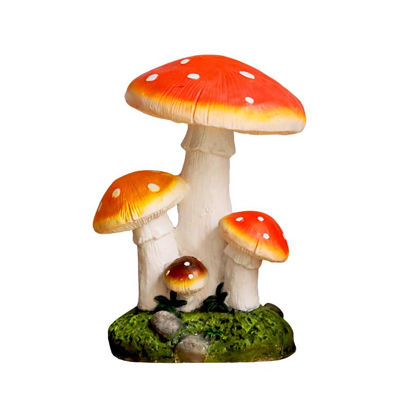 户外花园庭院草坪装饰造景仿真蘑菇田园风格树脂雕塑摆件公园摆设