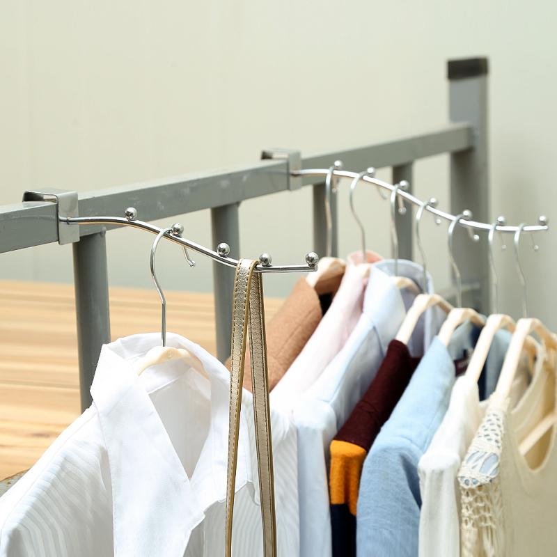 学生宿舍衣架寝室床上床头夹多功能晾衣架晾晒架家用门后挂钩衣挂