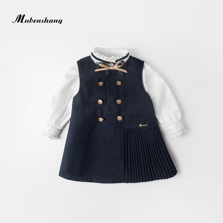 木本尚女童春秋装套装洋气2021年新款一岁女宝宝学院风两件套时髦