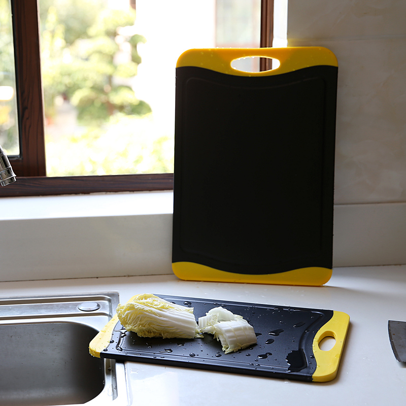 大号塑料竹炭抗菌烘培不发霉切菜板砧板 厚旅游同款熟食案板粘板