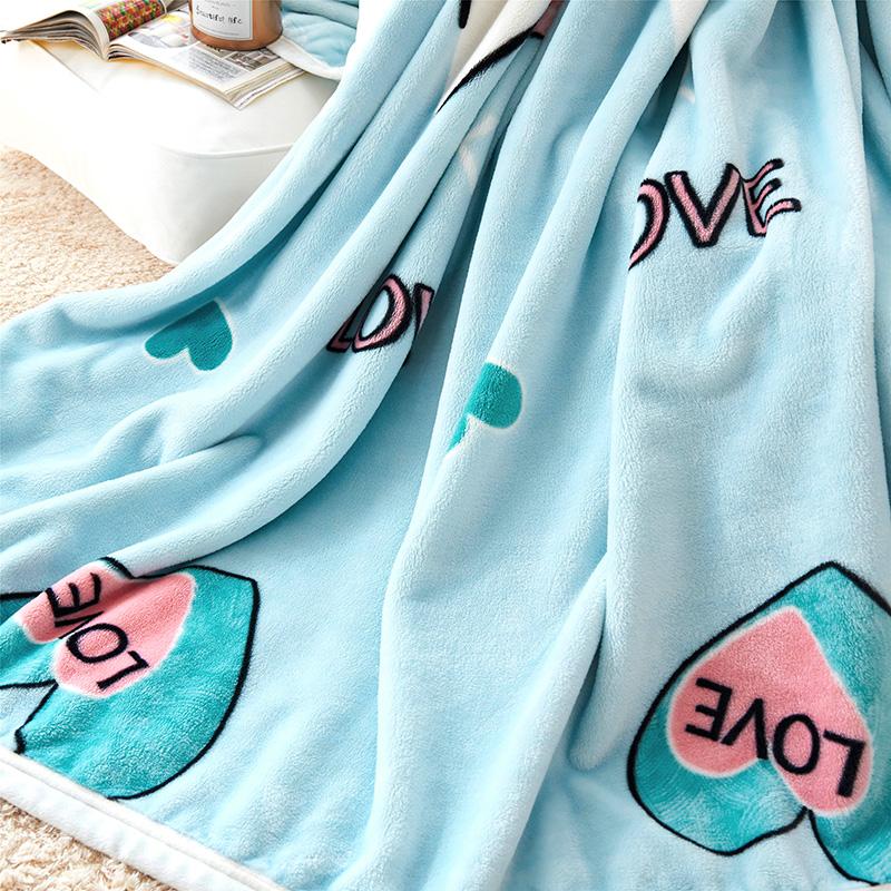 春秋毛巾被单层云貂绒盖毯毛巾毯单人双人毯雪貂绒珊瑚绒床单毛毯