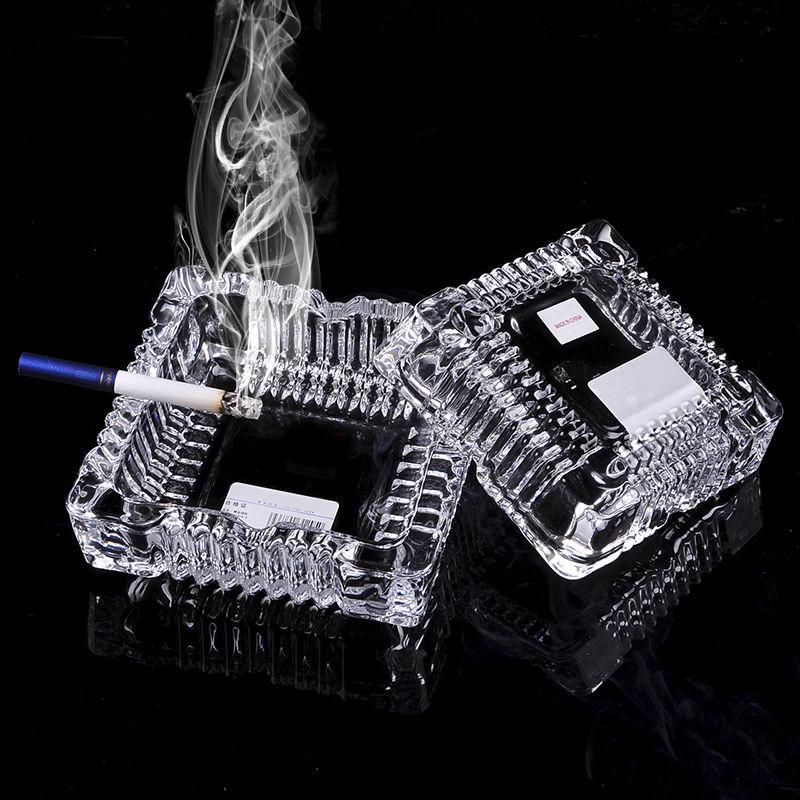 【买一送一】破损包赔水晶玻璃烟灰缸家用客厅大号防摔好评如潮