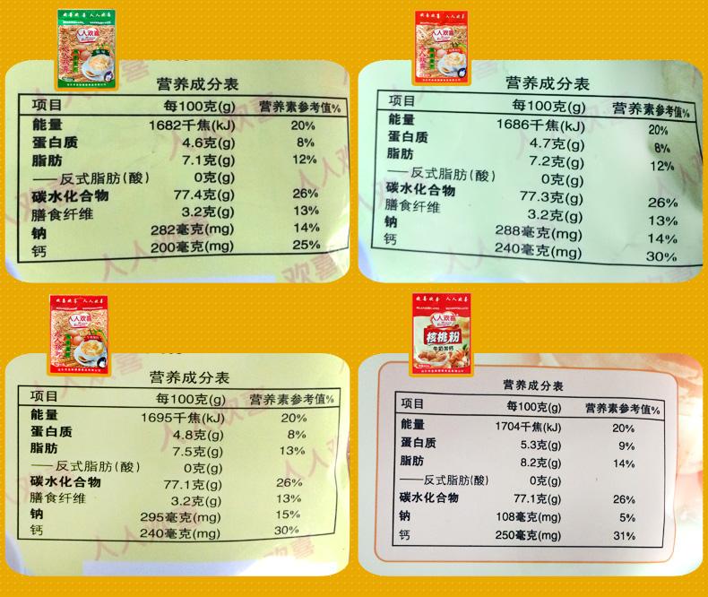 金妹麦片2包人人欢喜即食燕麦片加钙粗粮原味冲饮学生早餐袋装