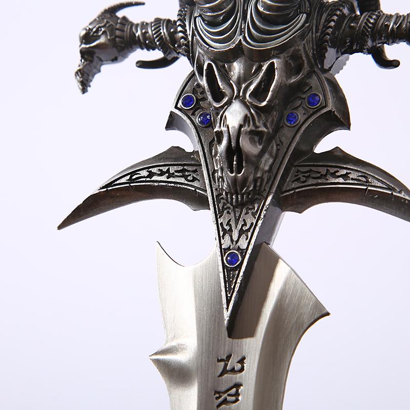魔兽世界武器模型 阿尔塞斯霜之哀伤剑挂饰 wow羊头剑