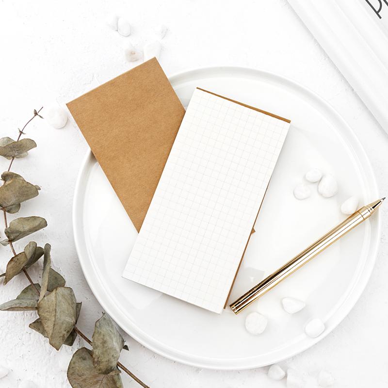 广博创意牛皮纸便签小本子网格记事本学生用随身单词本横格便笺纸6本装