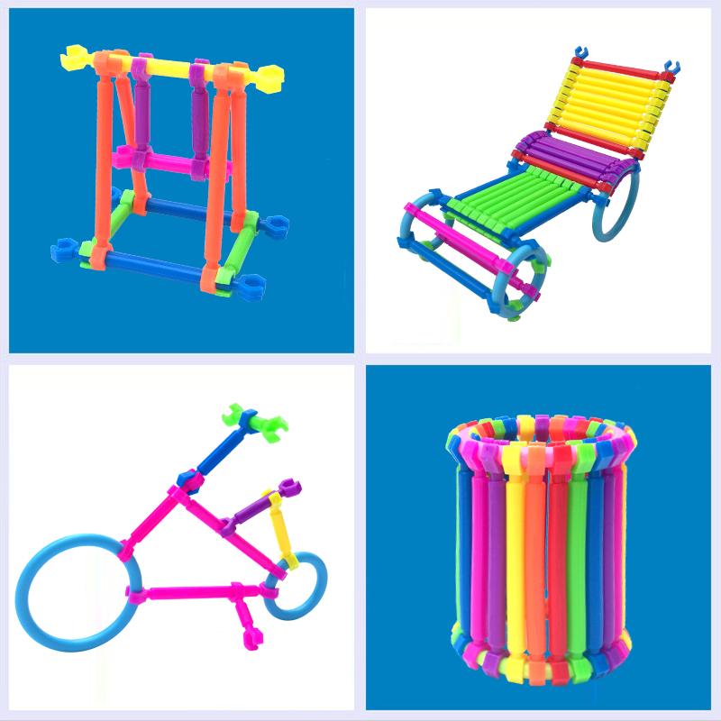 聪明积木棒塑料拼装儿童益智玩具3-6周岁男孩7-8岁女孩2智力4拼图