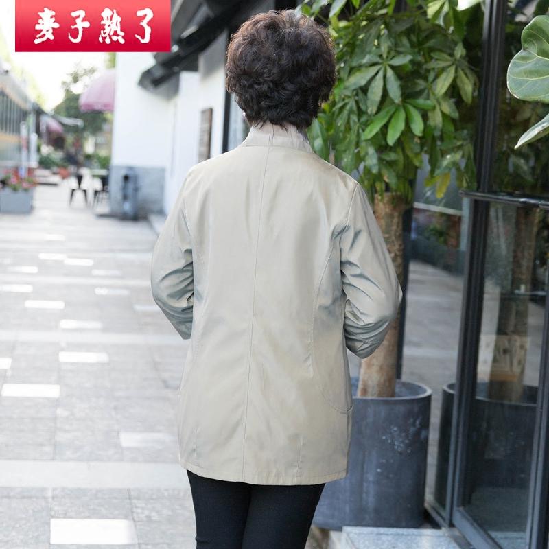 中老年女装秋装外套中长款大码妈妈装春秋新款奶奶风衣老年人上衣