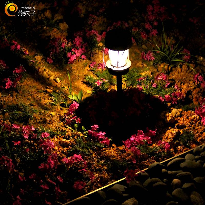 燕妹子太阳能草坪灯户外led地插灯庭院灯家用路灯复古马灯花园灯