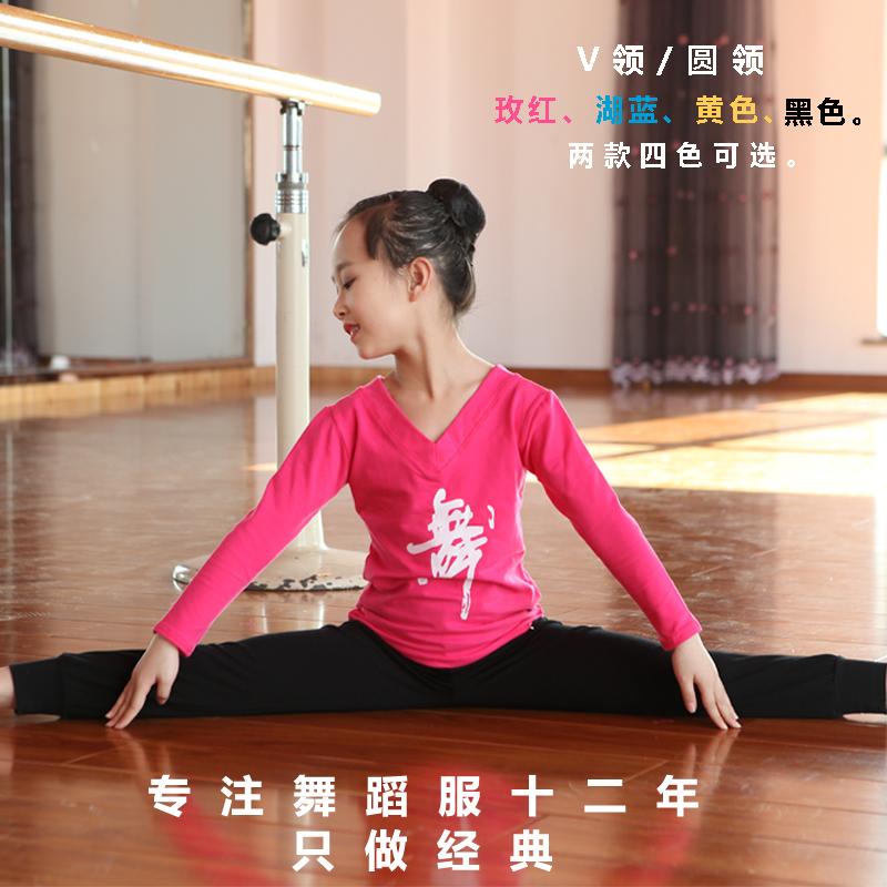 幼儿童舞蹈服练功服纯棉长袖春季男女童中国舞练习服萝卜裤套装