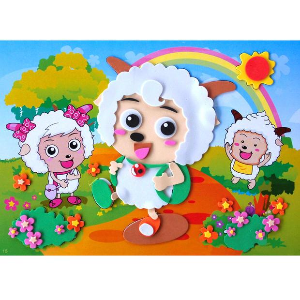 批发eva贴画3岁儿童手工制作diy材料幼儿园宝宝3d立体