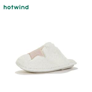 热风冬季新款女士时尚家居鞋包头毛毛棉拖鞋H31W9401