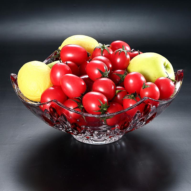 欧式水果盘客厅茶几创意现代家用干果果盘北欧水晶玻璃糖果盘大号