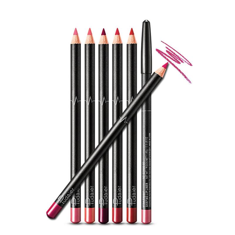 36色唇线笔女勾线防水持久正品不脱色裸色豆沙红棕色咬唇笔不沾杯