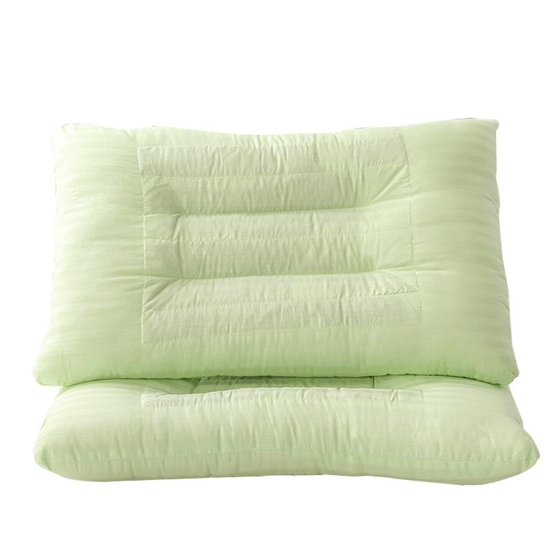 雅绿木棉决明子枕头枕芯单人全棉成人整头护颈椎家用寝室睡眠枕头