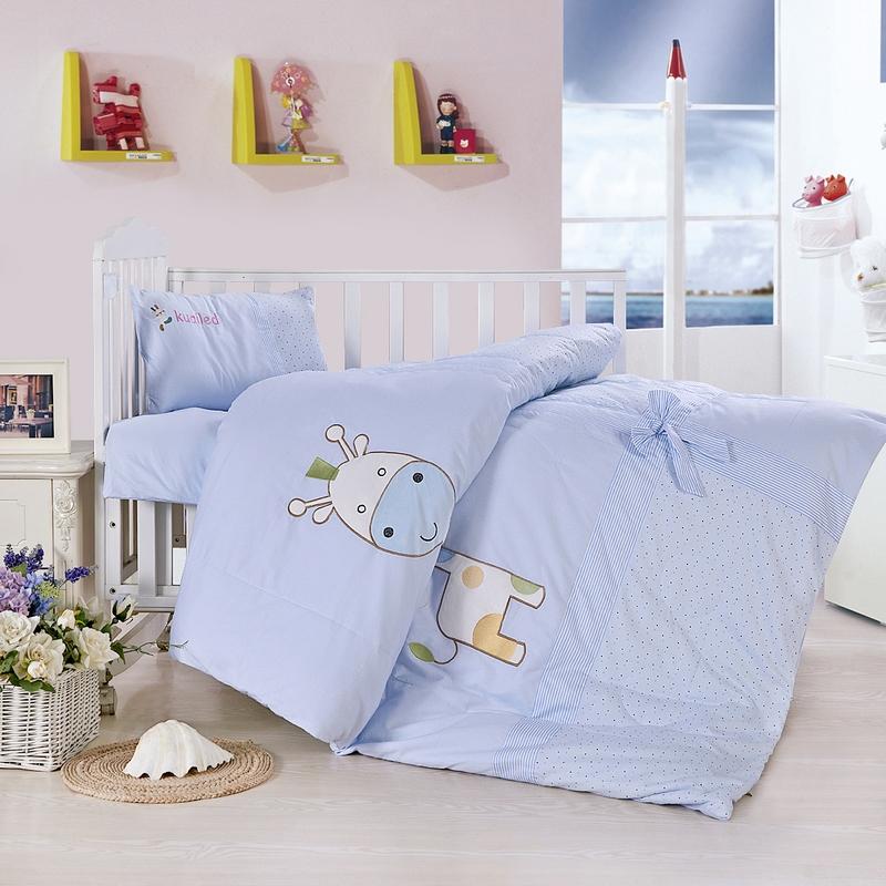 全棉幼儿园被子三件套含芯六七件套纯棉儿童午睡被褥宝宝入园床品